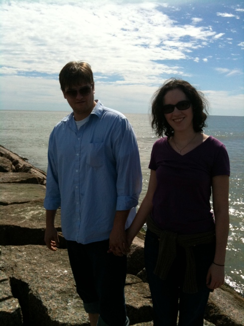 Heather and Shawn on the Jetty